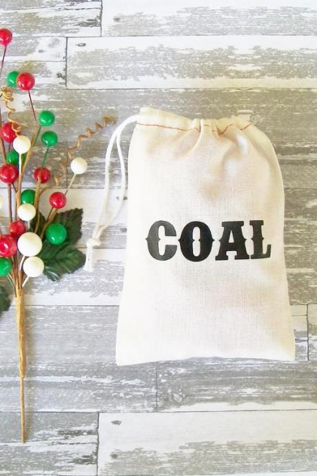 "Christmas Coal Gift Bag Size 3""x5"""